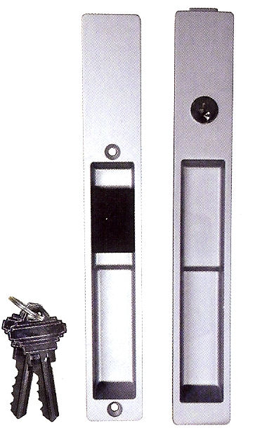 Flush Fit Patio Door Lockset
